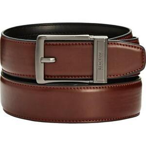 Kenneth Cole Reaction Mens Brown Leather Work Wear Dress Belt M BHFO 6089