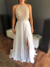 Sherri Hill Abendkleid Kleid Pailletten Weiß Gr. 8 Brautkleid Blogger Schick