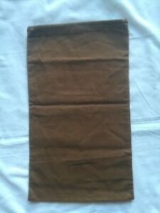 "GUCCI -9"" x 15""-Dust Cover  Storage Bag Brown Cotton"