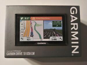 "Garmin DriveSmart 51 LMT-S 5"" GPS Navigator (010-01680-02) Brand New NIB"