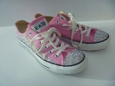GENUINE WOMENS EMBELLISHED CONVERSE CRYSTAL LOW PINK BLING PUMP SIZE 6