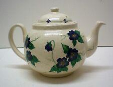 Tea Pot, Ohio Pottery, White Blue,Country Harvest Ceramics Doyletown, Ohio