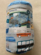 FULL Comforter Boys Sheet SET Your Zone Bed in Bag Cars Transportation Train Bus