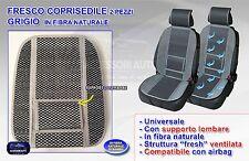 Schienale auto estivo coprisedile universale 2 sedili grigio ventilato in fibra