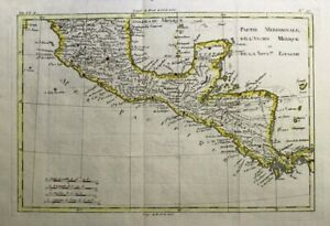 1781 Bonne Map of Central America