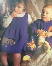 Disney Winnie The Pooh Set, dress,romper suit, cardigan, shorts Knitting Pattern