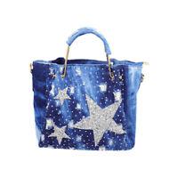 Fashion Womens Diamond Studded Denim Star Bag Crossbody Shoulder Bag Handbag New