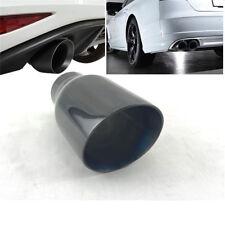 "Universal 2.5"" Inlet  Car Auto Round Exhaust Tip Tail Muffler Pipe Titan Black"