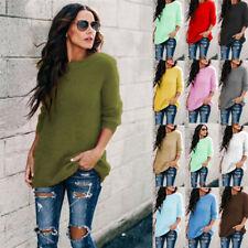 Women Winter Fleece Sweater Jumper Long Sleeve Sweatshirt Pullover Blouse Tops