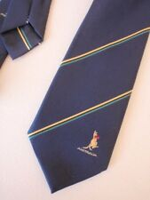 Americas Cup Defence 1987 Men's Tie - Boxing Kangaroo Navy Green & Yellow Stripe