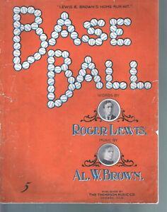 Base Ball 1908 Large Format Sheet Music
