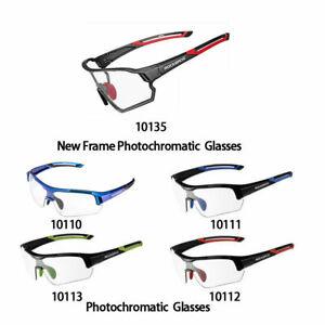 New ROCKBROS Cycling Photochromic Full Frame Glasses Sport Sunglasses Myopia