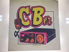 Vintage T Shirt Iron On Transfer Cb'er Trucker Rare Cb Radio Truck Driver Unused