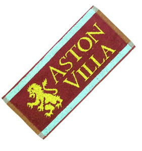 Aston Villa FC Old Style Cotton Bar Towel  500mm x 250mm   (pp)