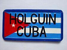 CUBA License Plate Movie Prop Cardboard Handmade Replica # HOLGUIN CUBA