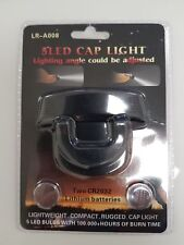 Baseball Cap Headlamp Light 5 LED Head Clip Lamp Night Fishing Camping Hiking