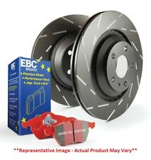 EBC S4 Rear Kit Redstuff and USR Slotted Rotor for 03-05 Volkswagen GTi S4KR1272