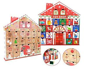 3D Christmas Advent Calendar Gingerbread Toy Shop Pull Out Date Boxes Cardboard