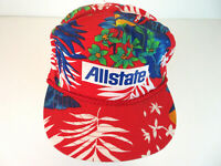 VTG Allstate Hawaiian Snapback Rope Hat - Adjustable 6 Panel Cap