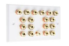 9.1 Surround Sound Audio AV Speaker Wall Face PLATE-Dolby ATMOS nessuna saldatura