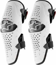 ALPINESTARS SX1 KNEE GUARDS WHITE BLACK HINGED MOTOCROSS MX ENDURO MTB BRACES
