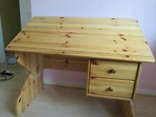 bureau enfant en pin massif - reglable, inclinable