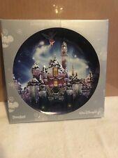 "Walt Disney World-Happy Holidays 2008 plate-8""-ice crystal castle/PIXIE DUST 3D"