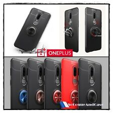 Coque housse Etui magnétique Finger Ring TPU Kickstand Case Cover OnePlus 6