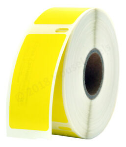 """Lot 1-100 DYMO 30336 YELLOW (1"""" x 2-1/8"""") Thermal Labels -  500 Labels Per Roll"""