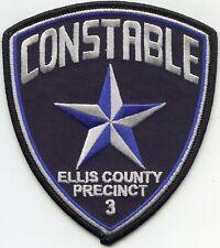 ELLIS COUNTY TEXAS TX Precinct 3 CONSTABLE sheriff police PATCH
