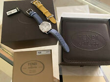 Fendi Mother Of Pearl Timepiece With Interchangable Leather Strap Designer Watch