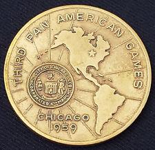 1959 - CHICAGO - THIRD PAN AMERICAN GAMES - COMMEMORATIVE COIN /MEDAL - ORIGINAL
