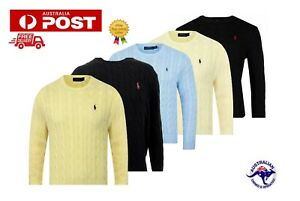 Polo Ralph Lauren Cable-Knit Cotton Sweater for Men Casual, Formal Wear