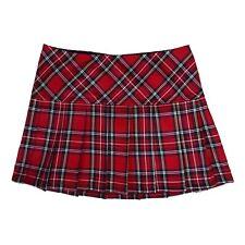 Tripp NYC 80s 90s Gothic Goth Punk Red Tartan Plaid Pleated Mini Skirt Size S