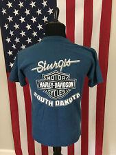 vtg Harley Davidson Sturgis 1997 T-Shirt men's MEDIUM south dakota Blue 26479