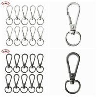 10x Metal Lobster Claw Clasp Swivel Buckle Clips Snap Hook  for Keychain Lanyard