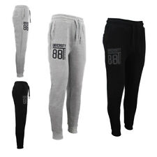 Men's Track Pants Slim Cuff Fleece Trousers Casual Sports Jogging Gym Tracksuit