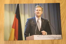 ORIGINAL Autogramm von Christian Wulff. pers. gesammelt u. 100 % ECHT. GROSSFOTO