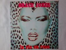 "GRACE JONES La vie en rose 7"" ITALY UNIQUE PICTURE SLEEVE AND B SIDE NUOVO"