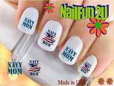 """RTG Set#572 MILITARY """"Navy MOM"""" WaterSlide Decals Nail Art Transfers Salon Nails"""