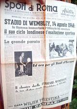 1948 GIORNALE 'SPORT DI ROMA' CON LA CERIMONIA DI CHIUSURA OLIMPIADI DI LONDRA