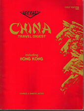 China Travel Digest Including Hong Kong Charles & Babette Jacobs SC 1986