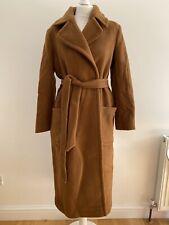 Anthropologie Jude Belted-Wrap Coat. Brown. UK 12. RRP £348