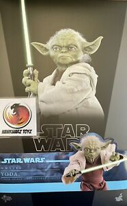Hot Toys Star Wars Attack Of The Clones Yoda MMS495 1/6 Sideshow Diseny