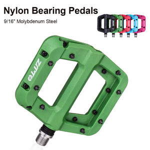 2PCS Bike Pedal Sealed Bearings Anti-Slip Nylon Flat Pedals for 9/16 MTB Bicycle