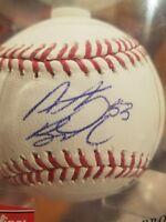 anthony banda signed baseball autographed ball romlb auto tampa bay rays mlb