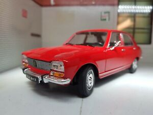 G LGB 1:24 Scale 1975 Peugeot 504 Saloon Red Detailed Welly Diecast Model Car