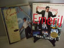 2 HC w/DJ EMERIL LAGASSE COOKBOOKS Prime Time/New Orleans Cooking 1st Editions