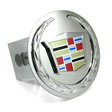 """Cadillac 3D Chrome Logo Steel Metal 2"""" Tow Hitch Cover Plug Officially Licensed"""