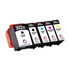 5 PK for Epson T302XL PK B C M Y Ink Cartridges Expression Premium XP-6000